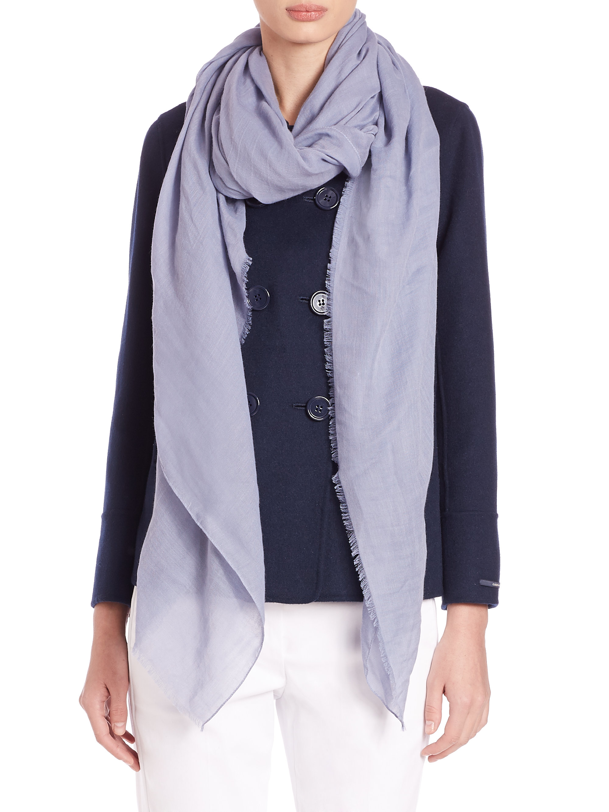 max mara sial woven scarf in purple lyst