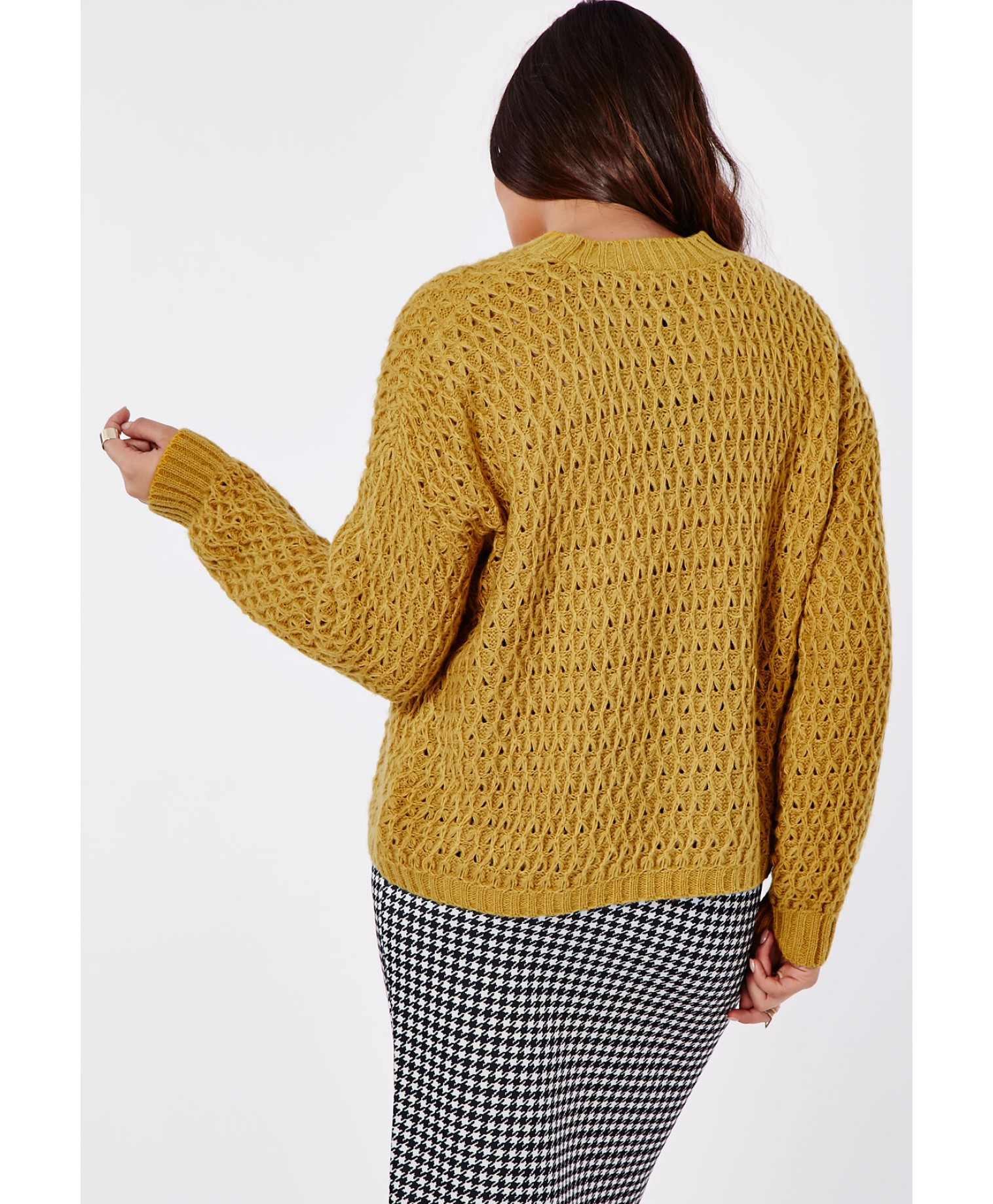 Lyst Missguided Plus Size Chunky Knit Jumper Mustard In Natural
