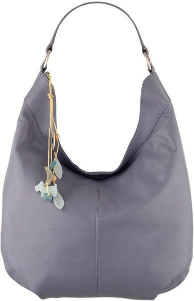 Radley Johnston Large Leather Shoulder Bag in Purple