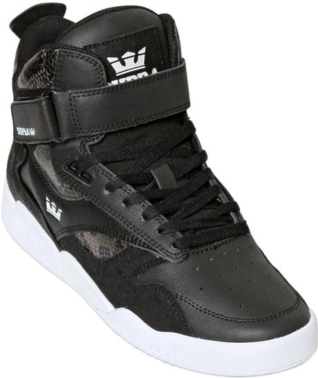 Reduced Mens Supra Bleeker - Shoes Supra Bleeker Leather High Top Sneaker Black