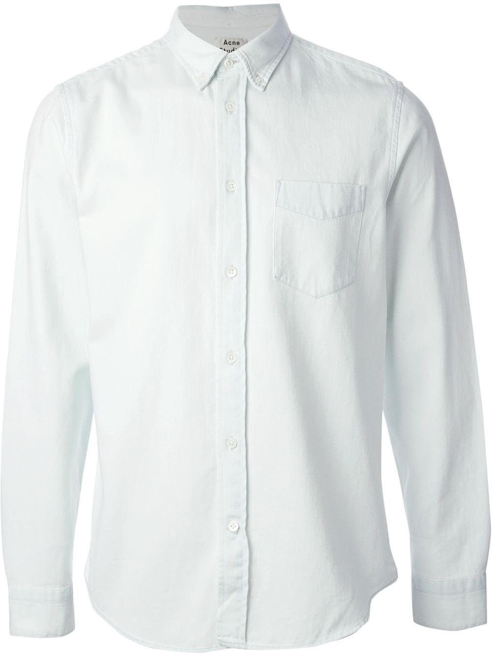 9c04b42dbca Lyst - Acne Studios  Isherwood  Denim Shirt in Blue for Men