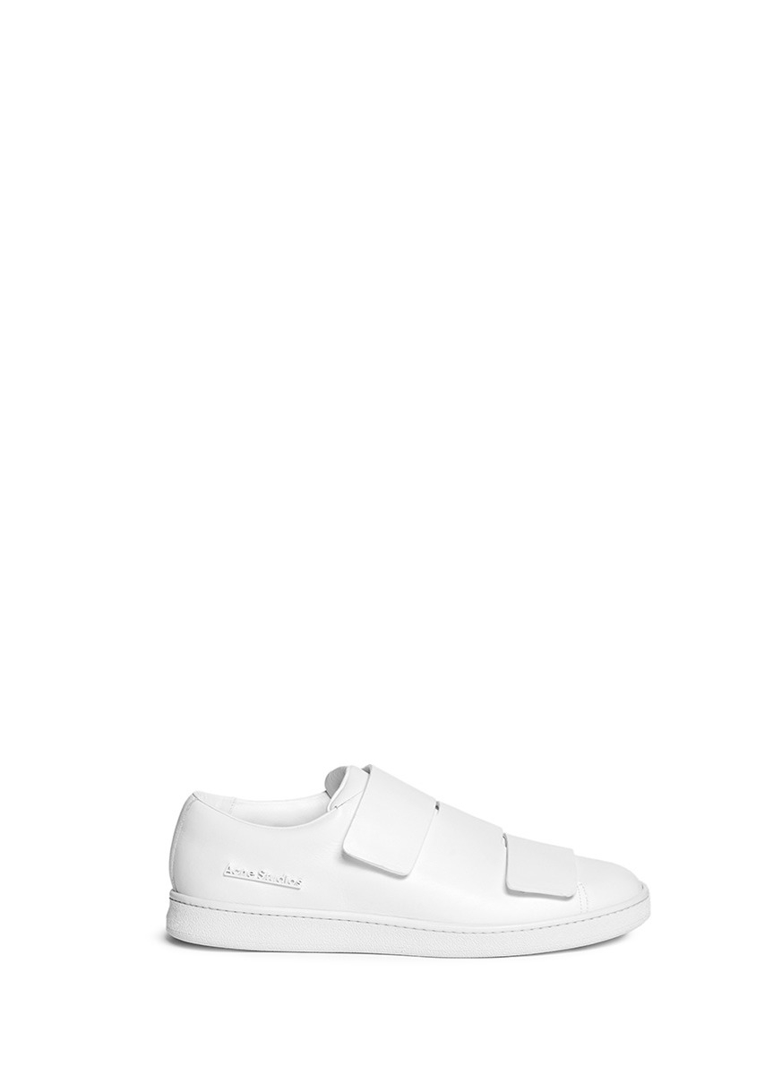 dc9328b05f0b Lyst - Acne Studios  triple Lo  Velcro Strap Leather Shoes in White ...