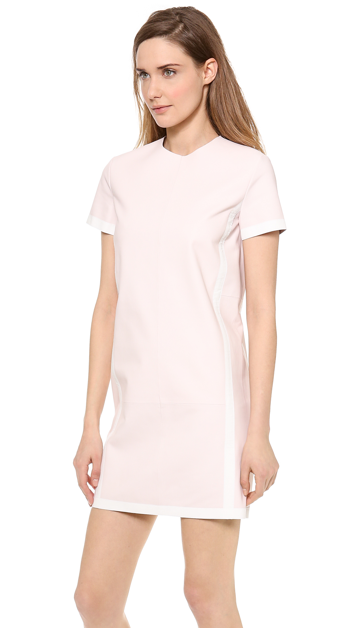 Lyst Acne Studios Maggie Leather Dress In Pink