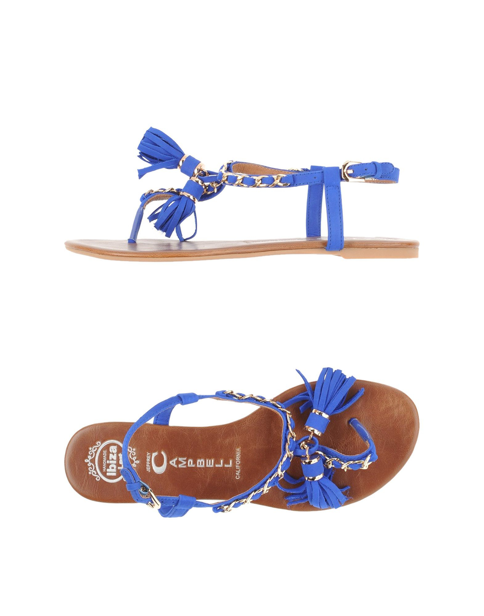 Lyst Jeffrey Campbell Thong Sandal In Blue