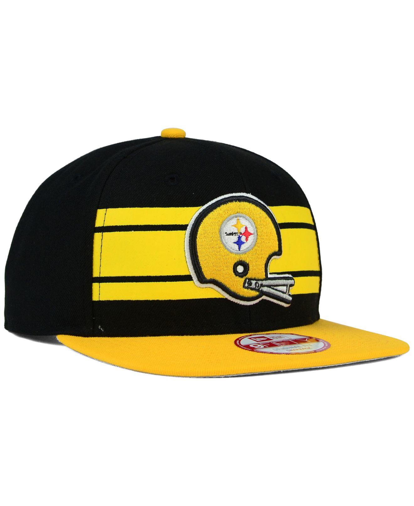 f6090c581fc Lyst - KTZ Pittsburgh Steelers Retro Striped 9fifty Snapback Cap in ...