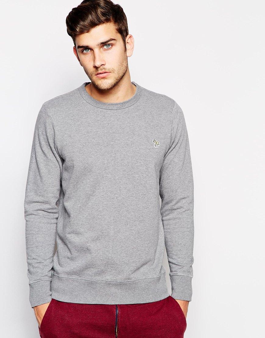 Paul Smith Sweatshirt with Zebra Logo in Gray for Men ...