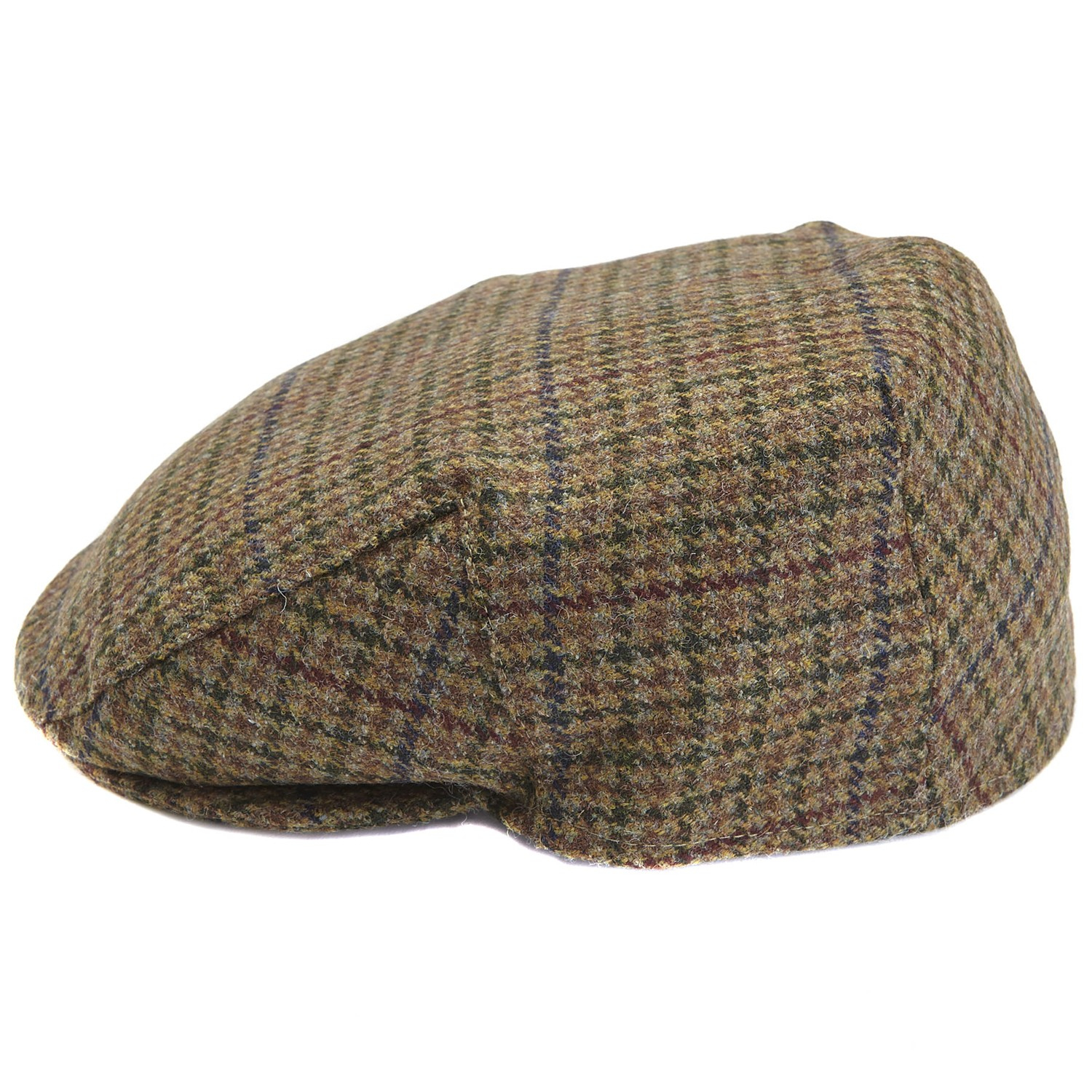 02100a085f4 Barbour Wool Crieff Check Flat Cap in Brown for Men - Lyst