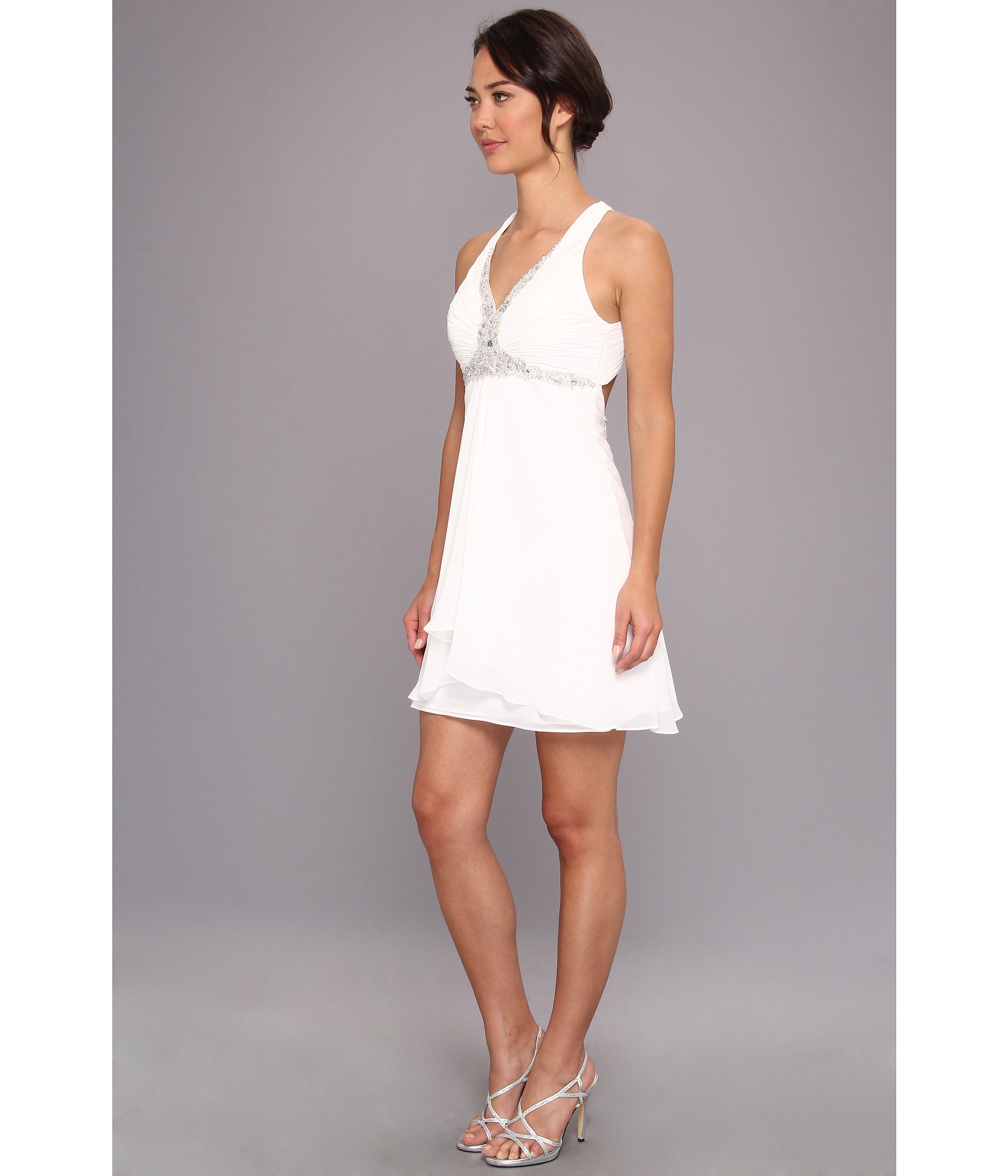 White Short Chiffon Dress