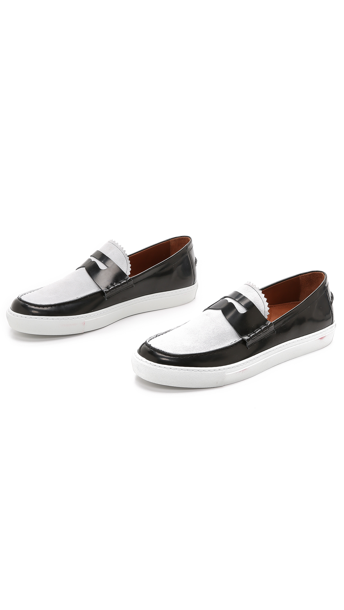 Band Of Outsiders Penny Loafer Sneakers In Black For Men