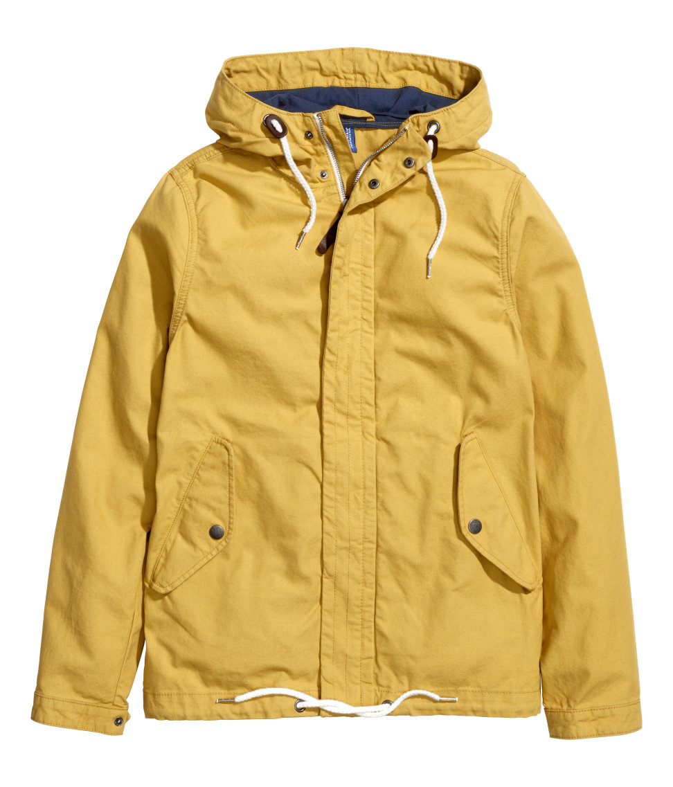H&m Canvas Parka in Yellow for Men | Lyst