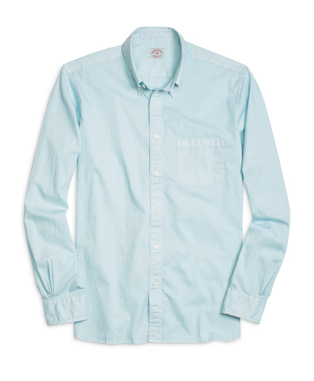 Brooks brothers oxford sport shirt in blue for men aqua for Brooks brothers sports shirts