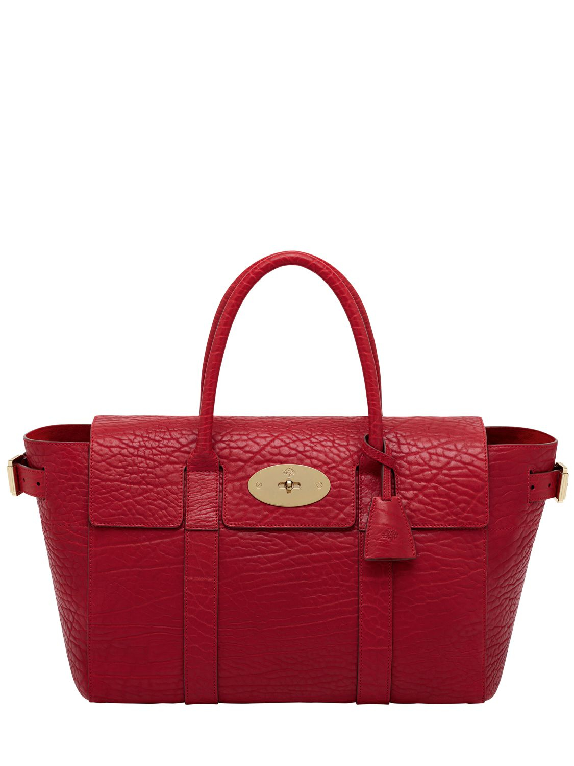 48356a975a Mulberry Large Bayswater Shrunken Leather Bag in Red - Lyst