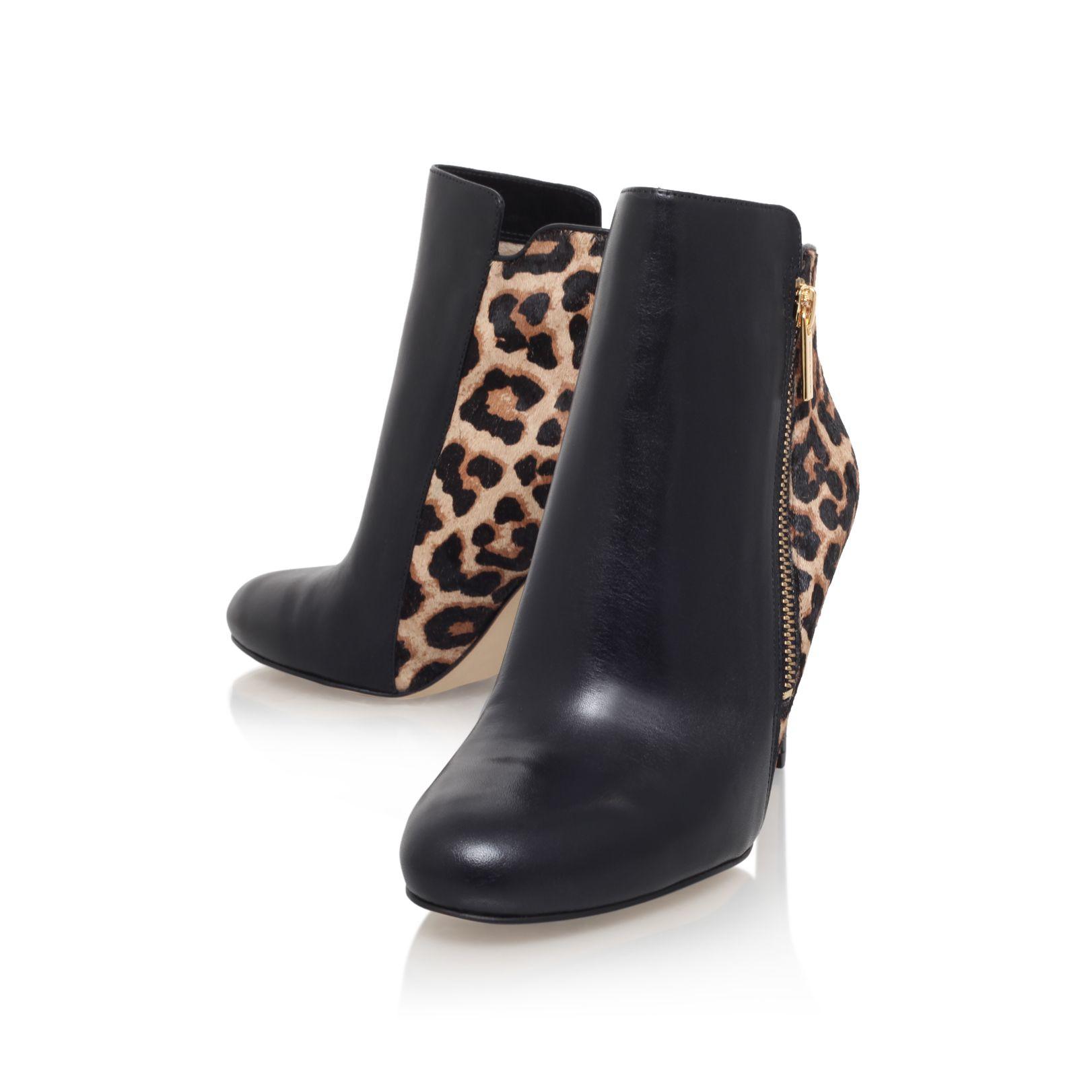 michael kors clara ankle high heel ankle boots in black lyst. Black Bedroom Furniture Sets. Home Design Ideas