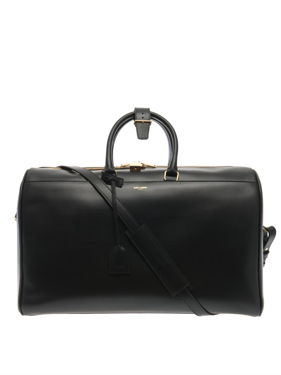Saint laurent Classic Duffle 24 Leather Bag in Black for ...