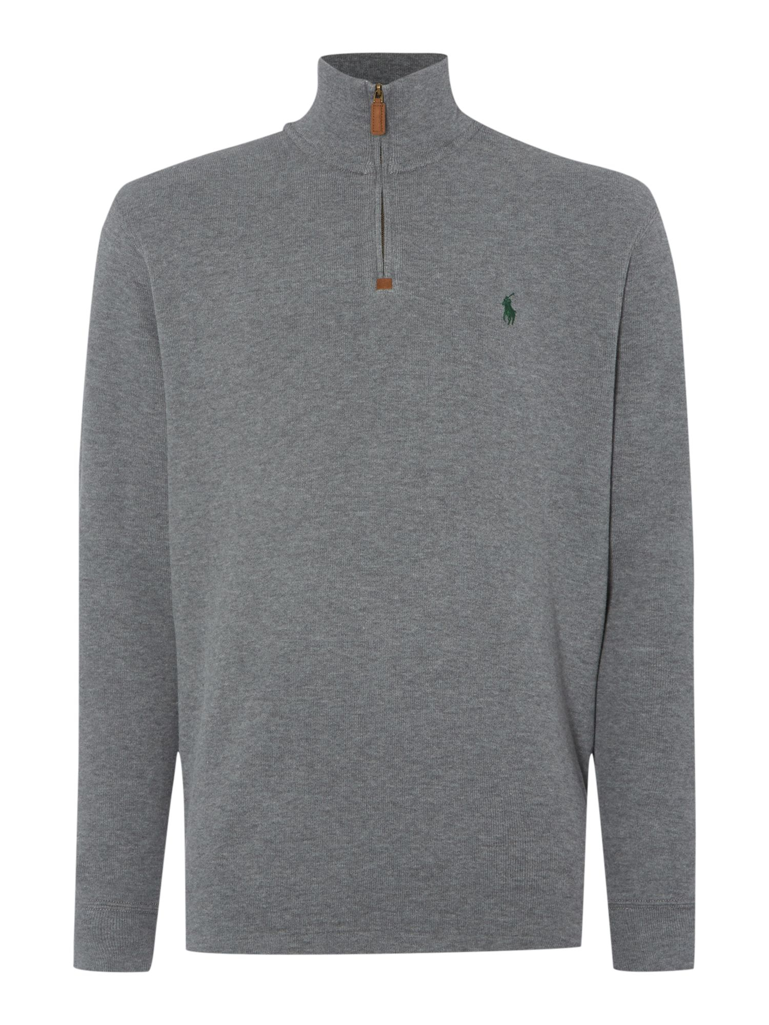 polo ralph lauren half zip sweatshirt in gray for men lyst. Black Bedroom Furniture Sets. Home Design Ideas