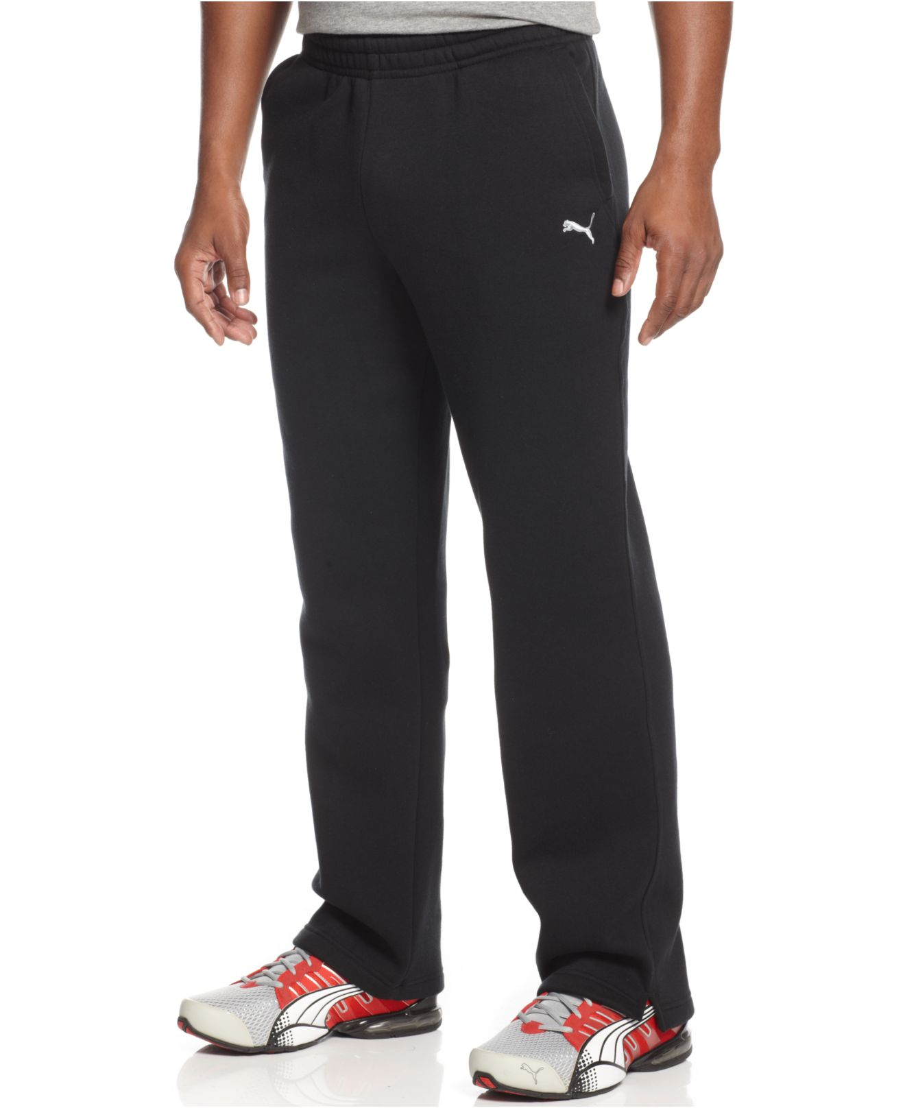 Puma Men S Drawstring Fleece Sweatpants In Black For Men