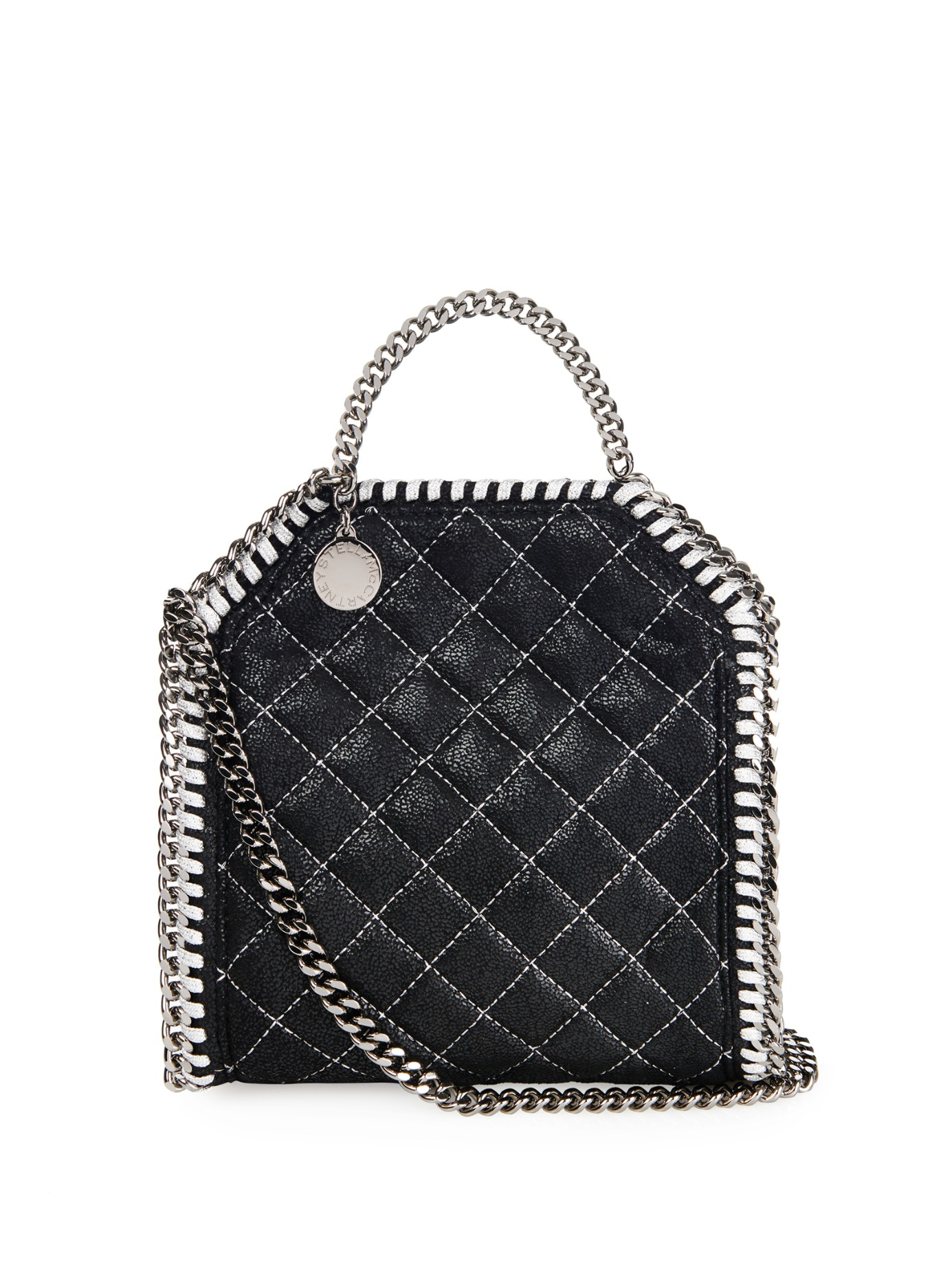 Lyst - Stella McCartney Falabella Tiny Quilted Cross-body Bag in Black d9874e6e132b7