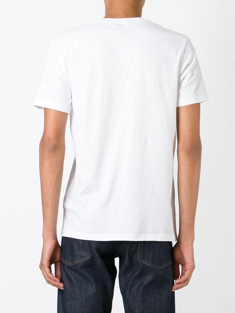 Diesel digital print t shirt in white for men lyst for Digital printing for t shirts