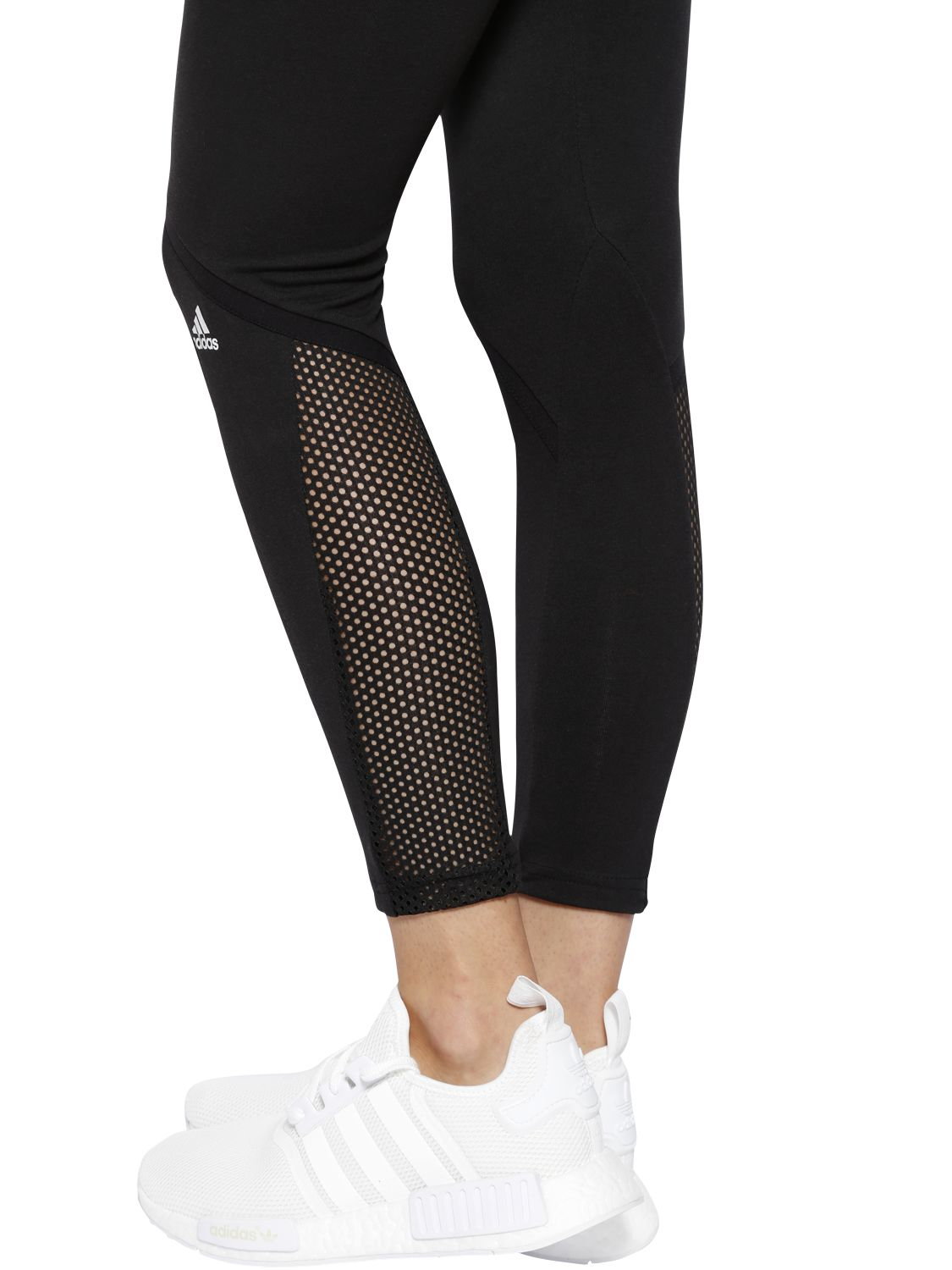 a485df9a67ac9 adidas Climalite Jersey Training Leggings in Black - Lyst