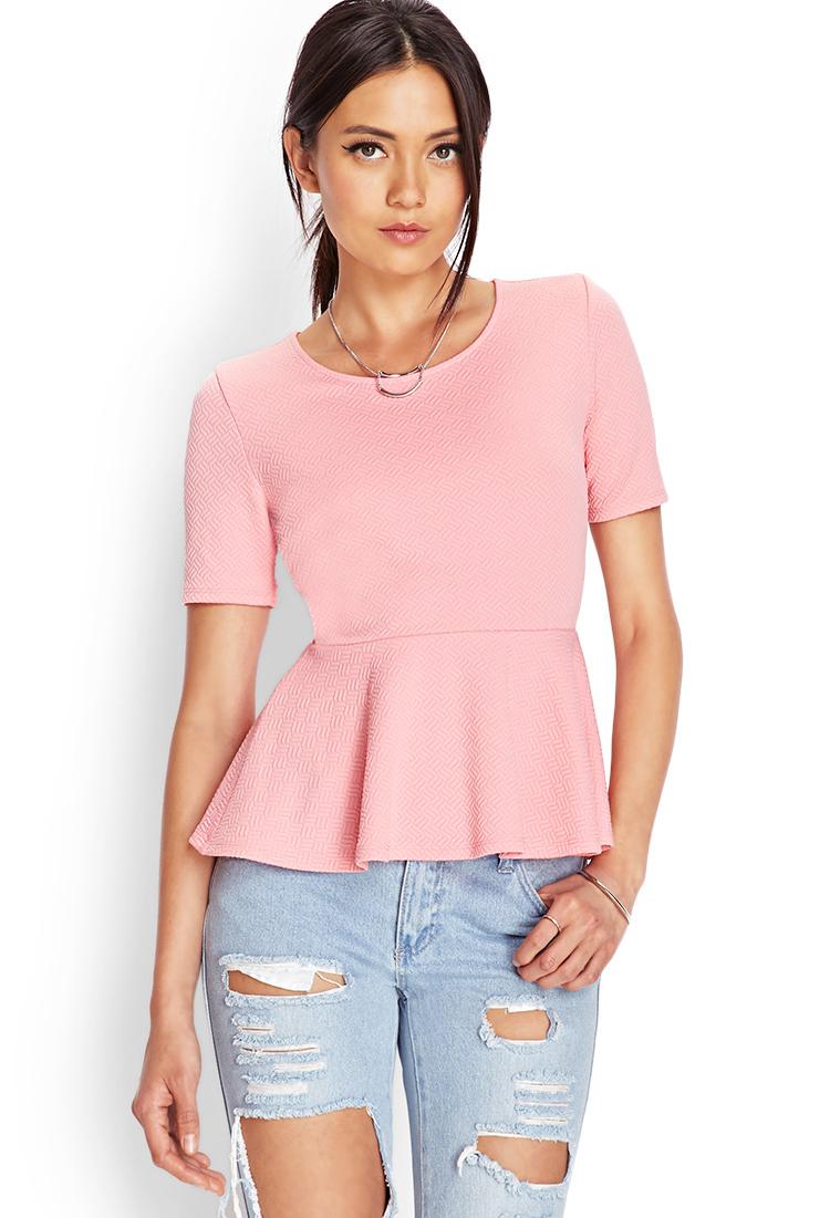 peplum shirt forever 21