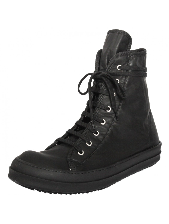 drkshdw by rick owens vegan coated triple black sneakers in black for men lyst. Black Bedroom Furniture Sets. Home Design Ideas