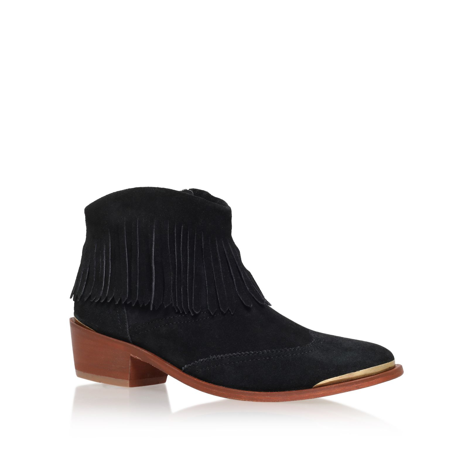 h by hudson tala low heel ankle boots in black lyst