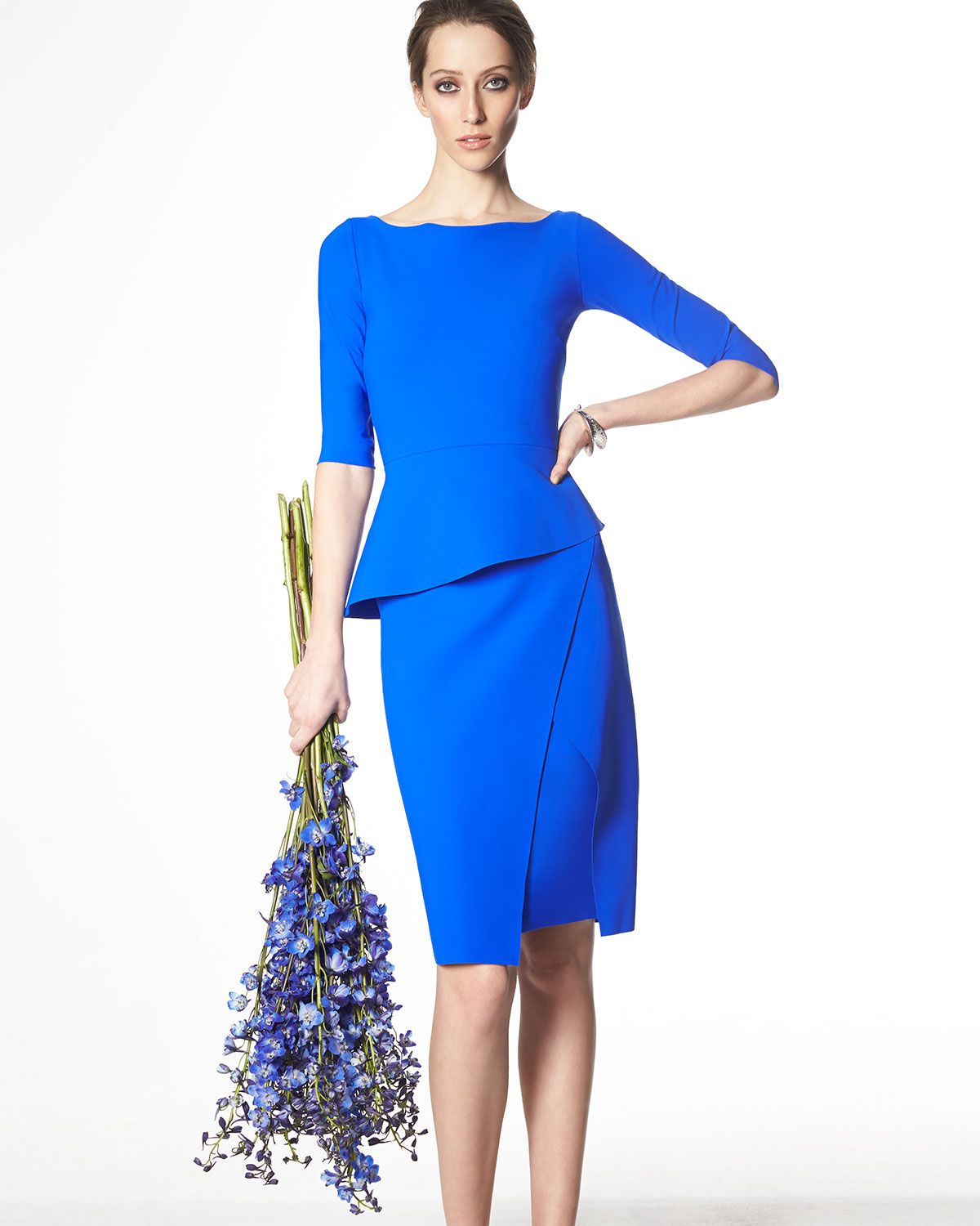Chiara Boni The Most Popular Dress In America: La Petite Robe Di Chiara Boni Saskia 3/4-sleeve Peplum