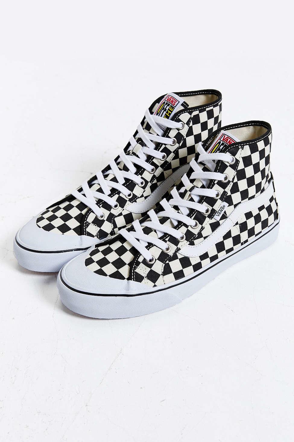 Lyst - Vans Black Ball Hi Sf Checkered Sneaker in White ...  Lyst - Vans Bla...