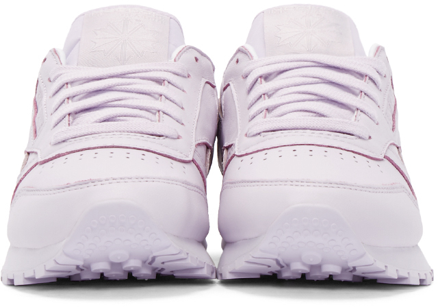 bbf02484b25182 Lyst - Reebok Purple Leather Spirit Face Stockholm Edition Sneakers in White