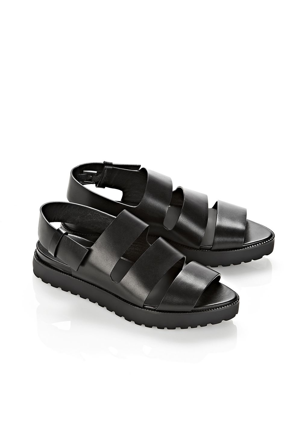 Lyst Alexander Wang Alisha Flat Sandal In Black