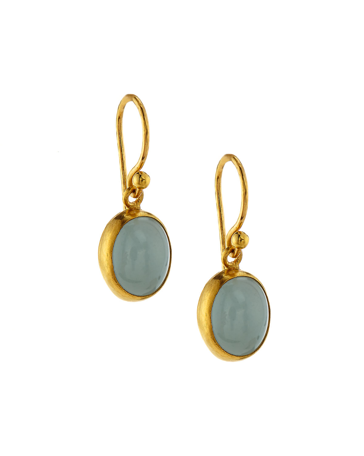 Gurhan 24k Long Flurries Earrings w/ Apatite & Aquamarine 0D0J5
