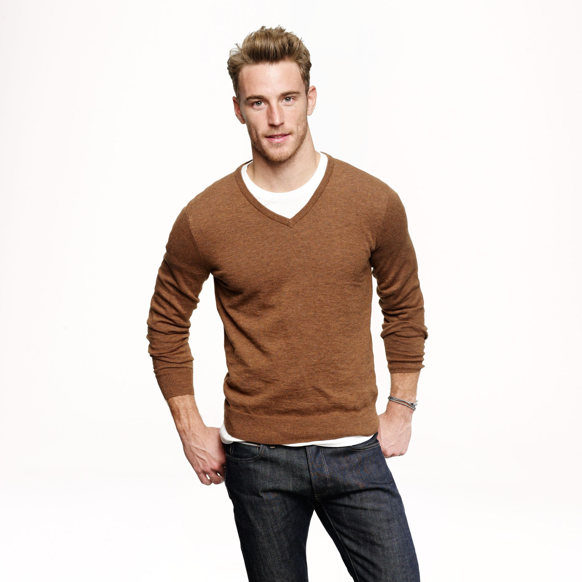 What To Wear Under Brown V Neck Sweater - English Sweater Vest