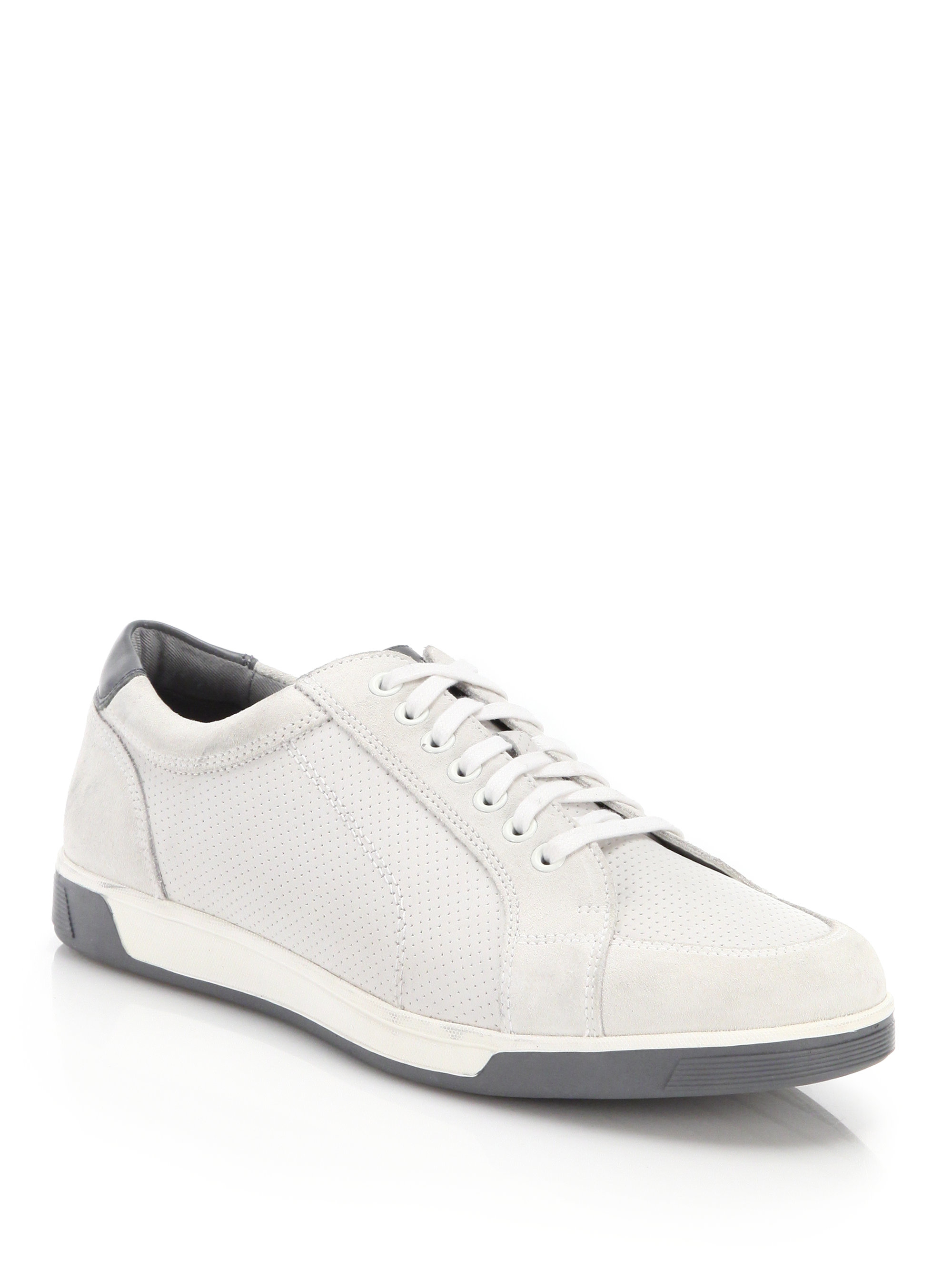 134027d25d2 Cole Haan Vartan Sport Leather & Suede Sneakers in White for Men - Lyst