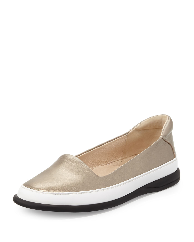 ea62cc60028d Lyst - Taryn Rose Fressa Leather Sneakers in Metallic