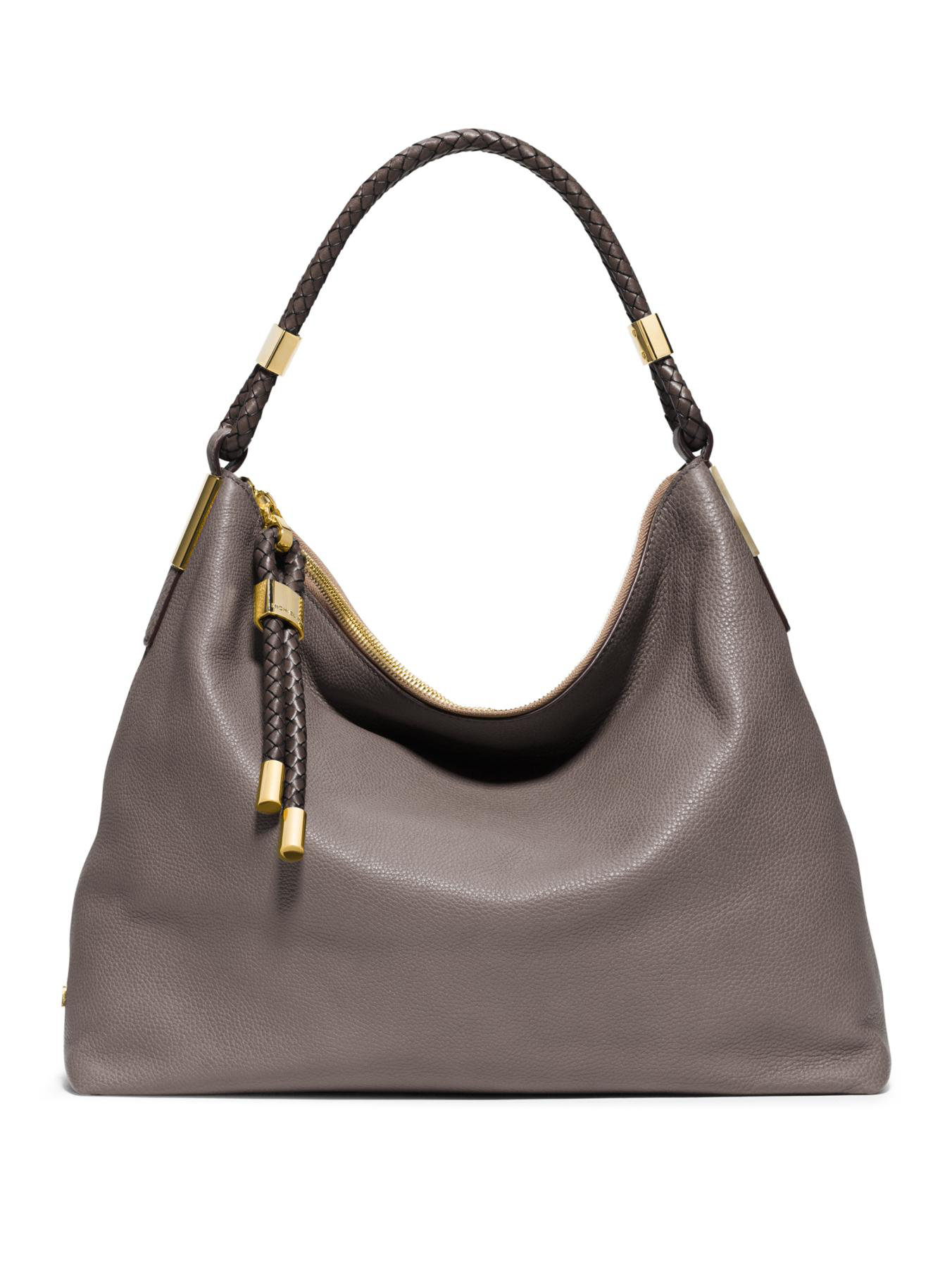 Michael kors Skorpios Medium Hobo Bag in Gray | Lyst