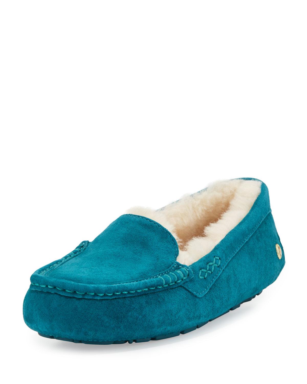 blue ugg moccasins