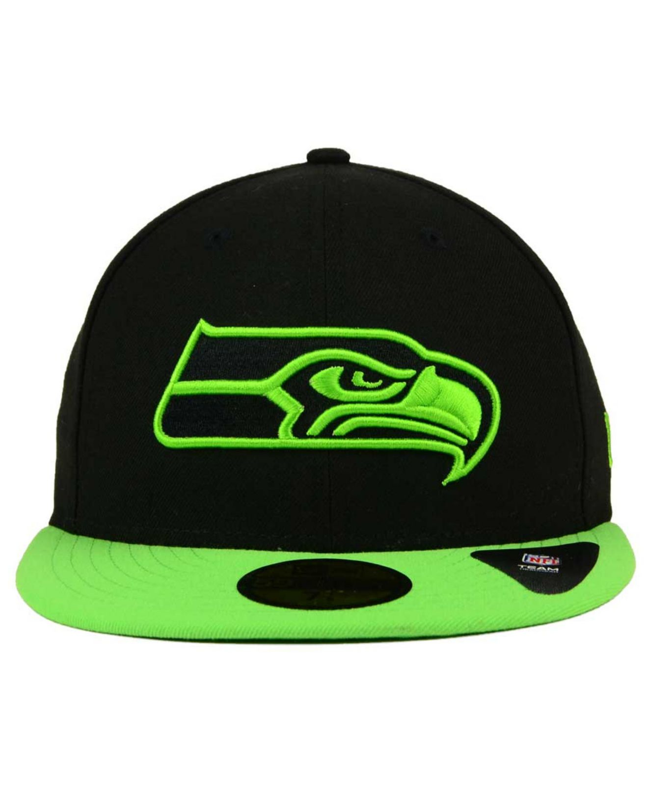 Ktz Seattle Seahawks Colors 59fifty Cap in Green for Men ...