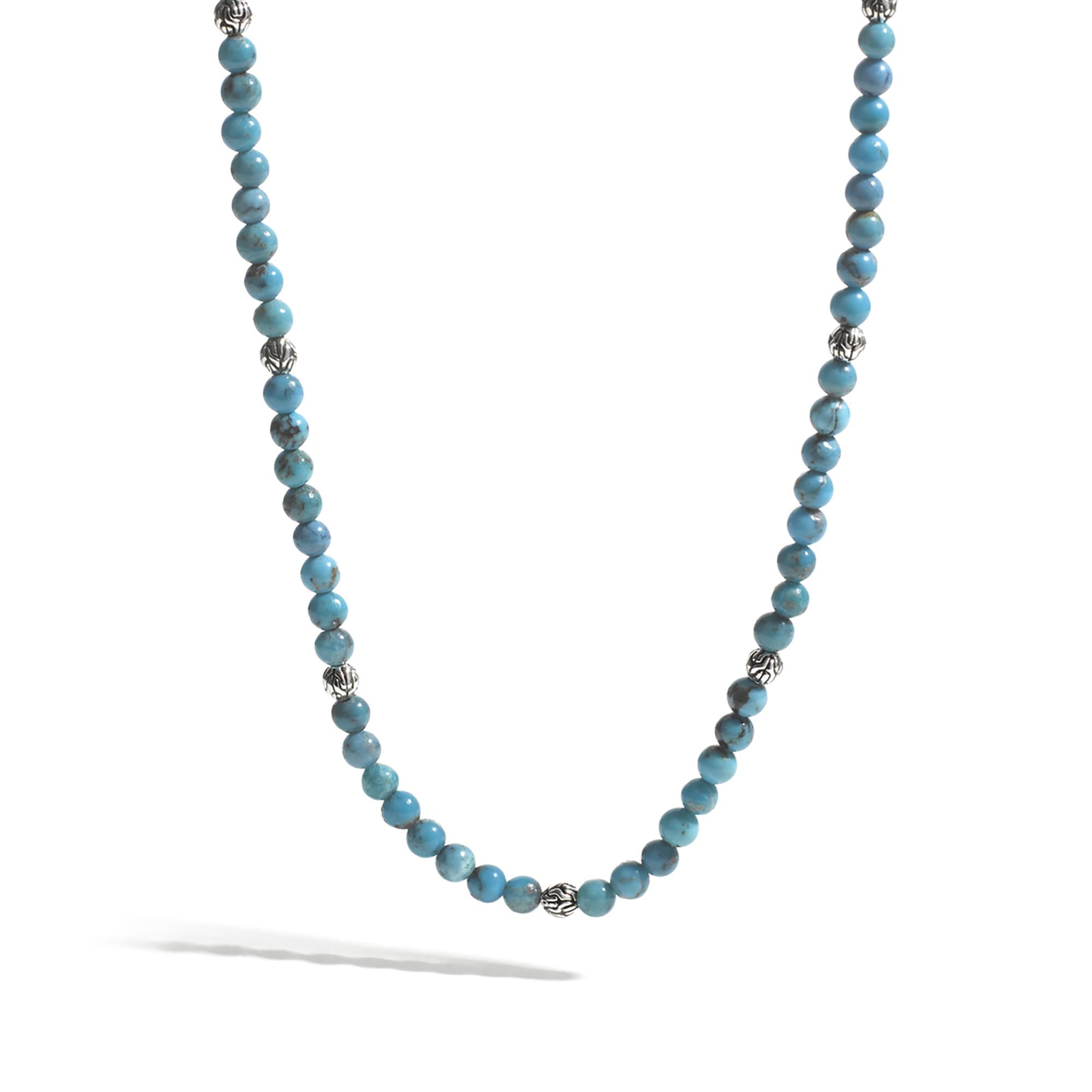 Lyst john hardy classic chain round beads necklace in blue for men gallery aloadofball Image collections