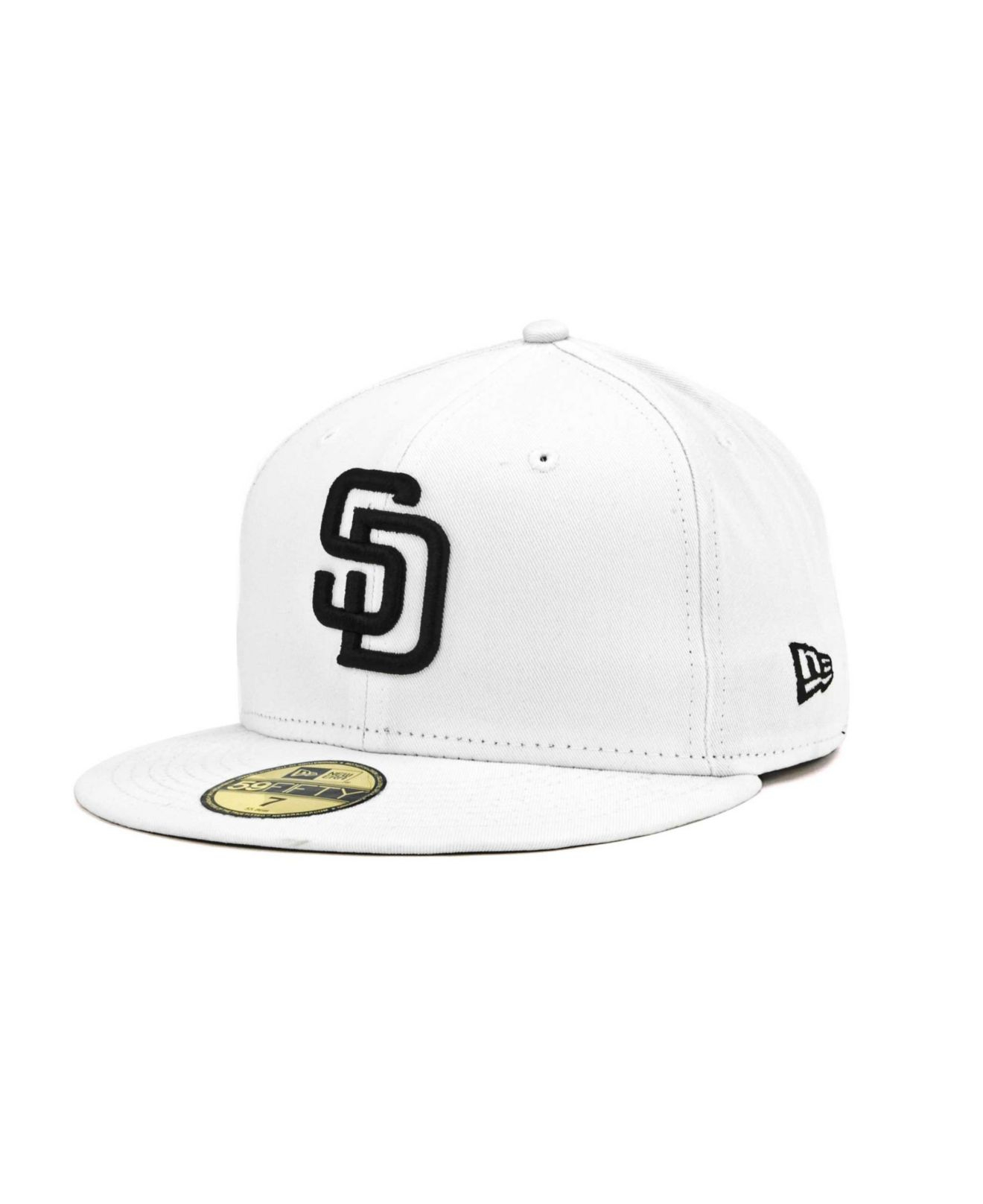 separation shoes a02f2 d5453 KTZ San Diego Padres Mlb White And Black 59fifty Cap in White for Men - Lyst