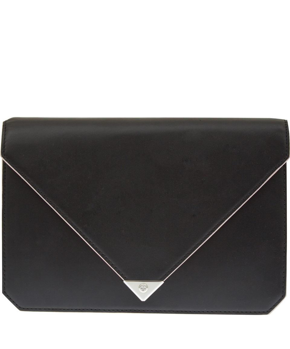 Alexander wang Black Prisma Envelope Clutch Bag in Black | Lyst