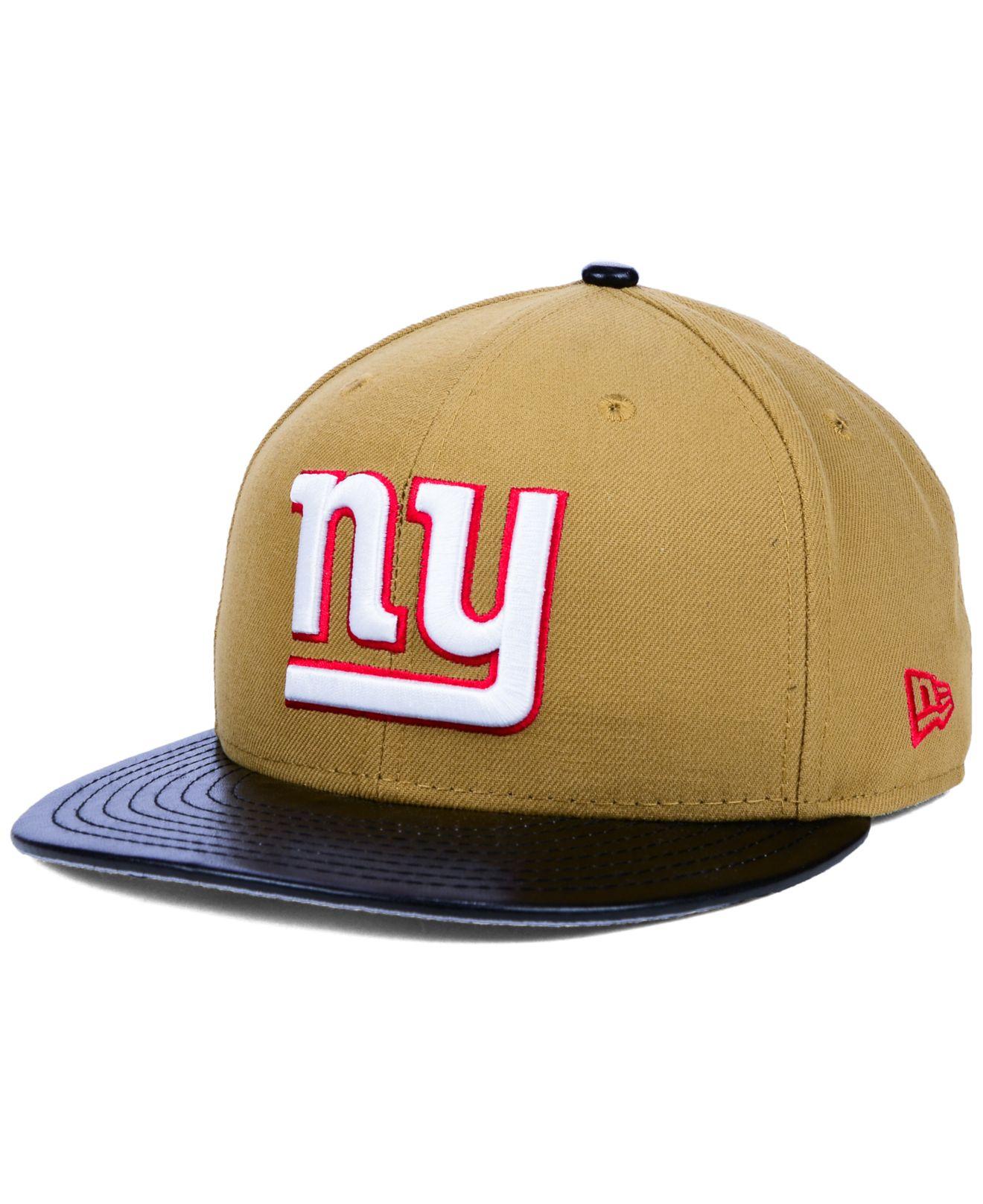 Lyst - KTZ New York Giants Faux-leather Wheat 9fifty Snapback Cap in ... 2960c7b8439