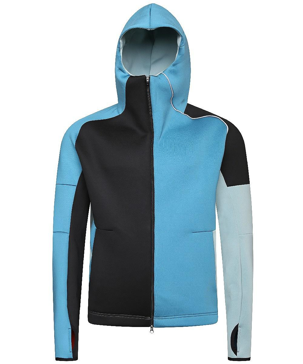 48e835c264a6 Lyst - Adidas Originals Zone Hooded Top in Blue for Men