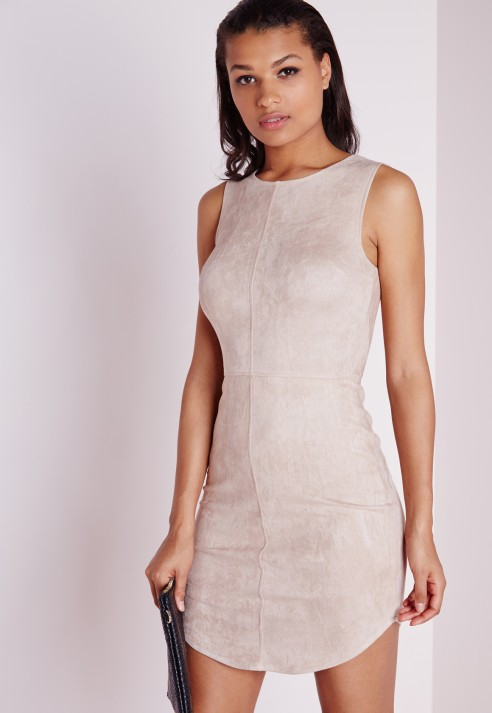 Pink Boned Scoop Neck Bodycon Dress | Missguided | Dresses