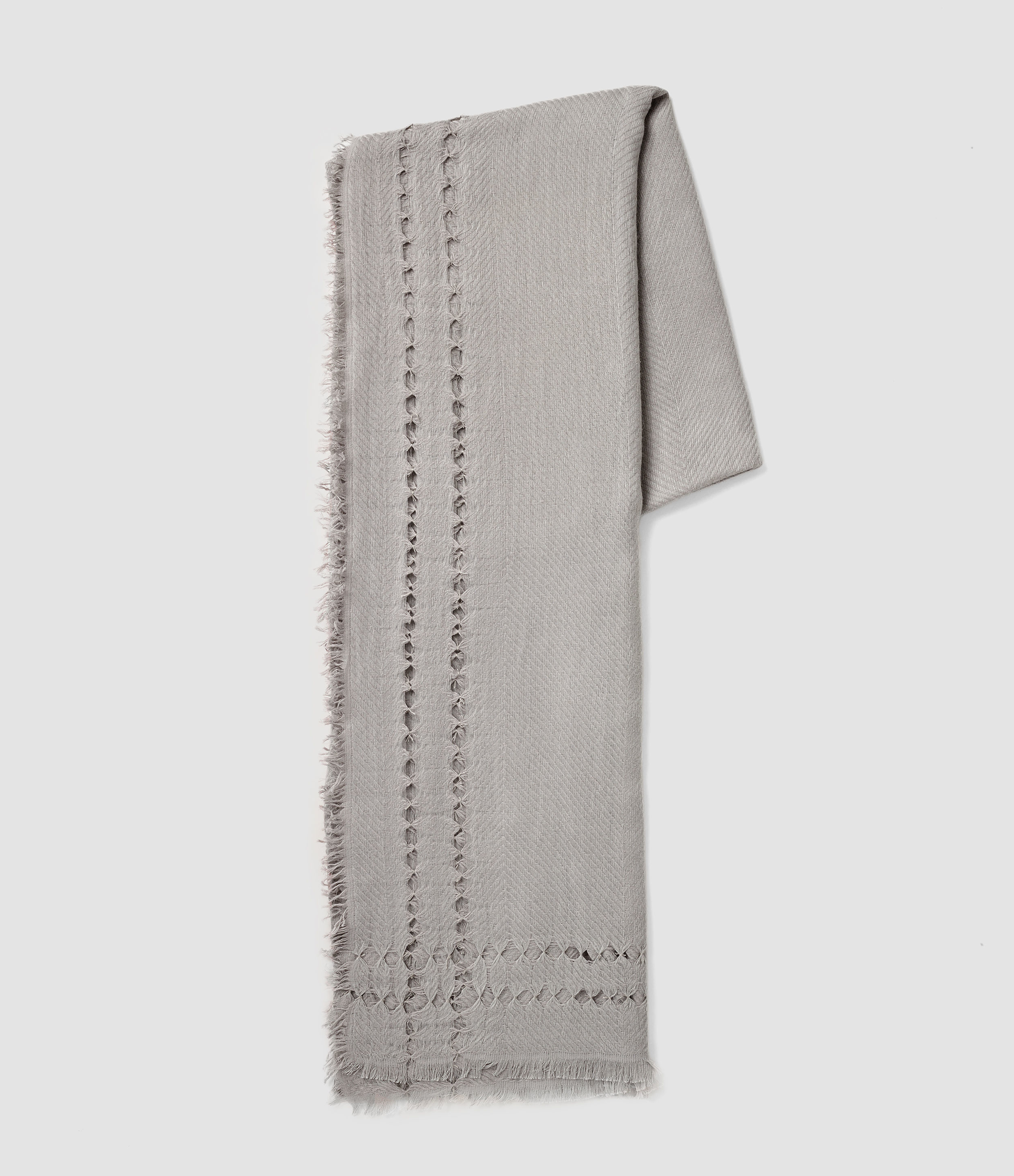 Allsaints Spine Scarf in Gray