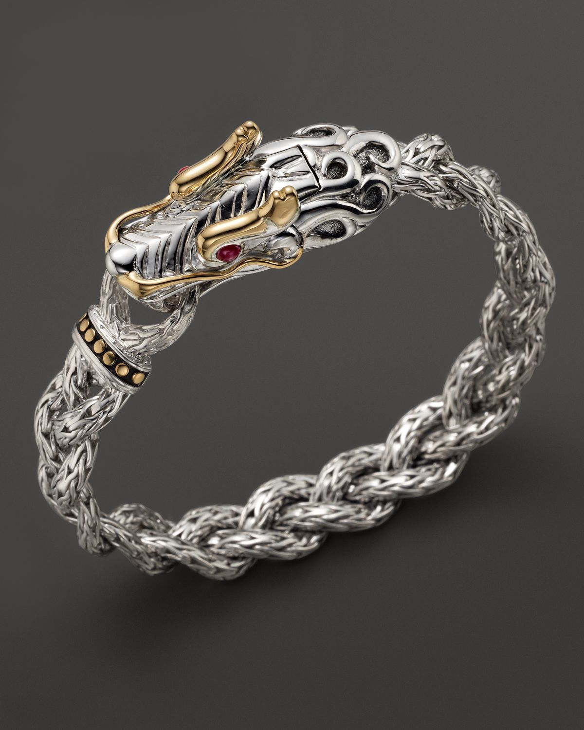 John Hardy Sterling Silver And 18k Bonded Gold Dragon Head