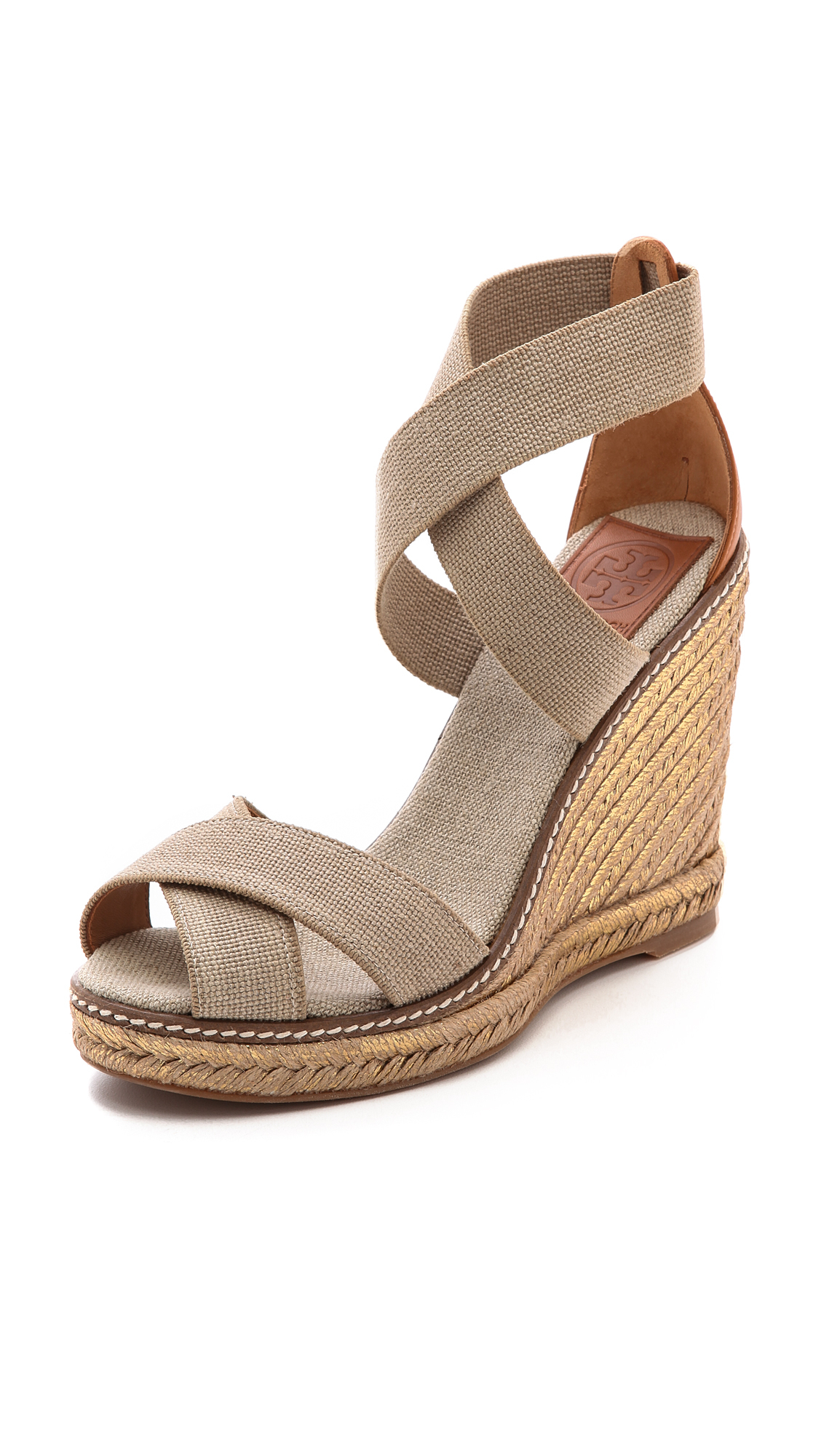 Tory Burch Adonis Espadrille Wedges Khakikhakigold In