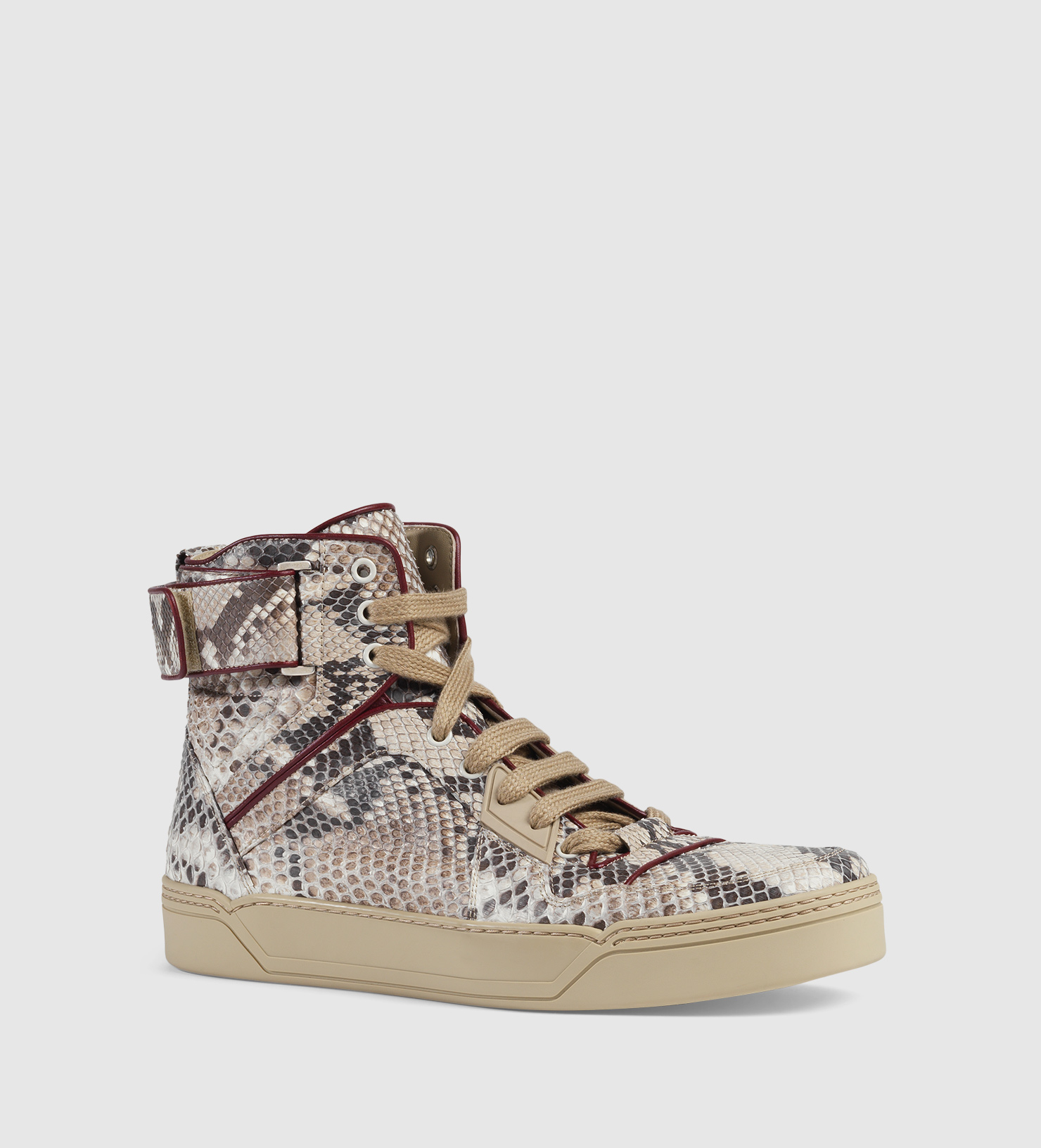 1f5e96fc1ab Lyst - Gucci Exclusive Python High-top Sneaker in Gray for Men