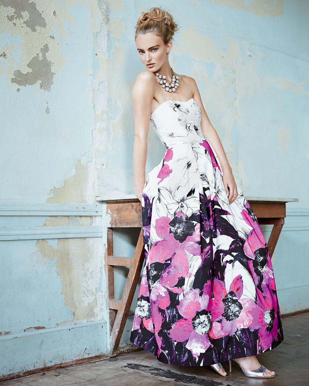 Ava up richard silk maxi dress