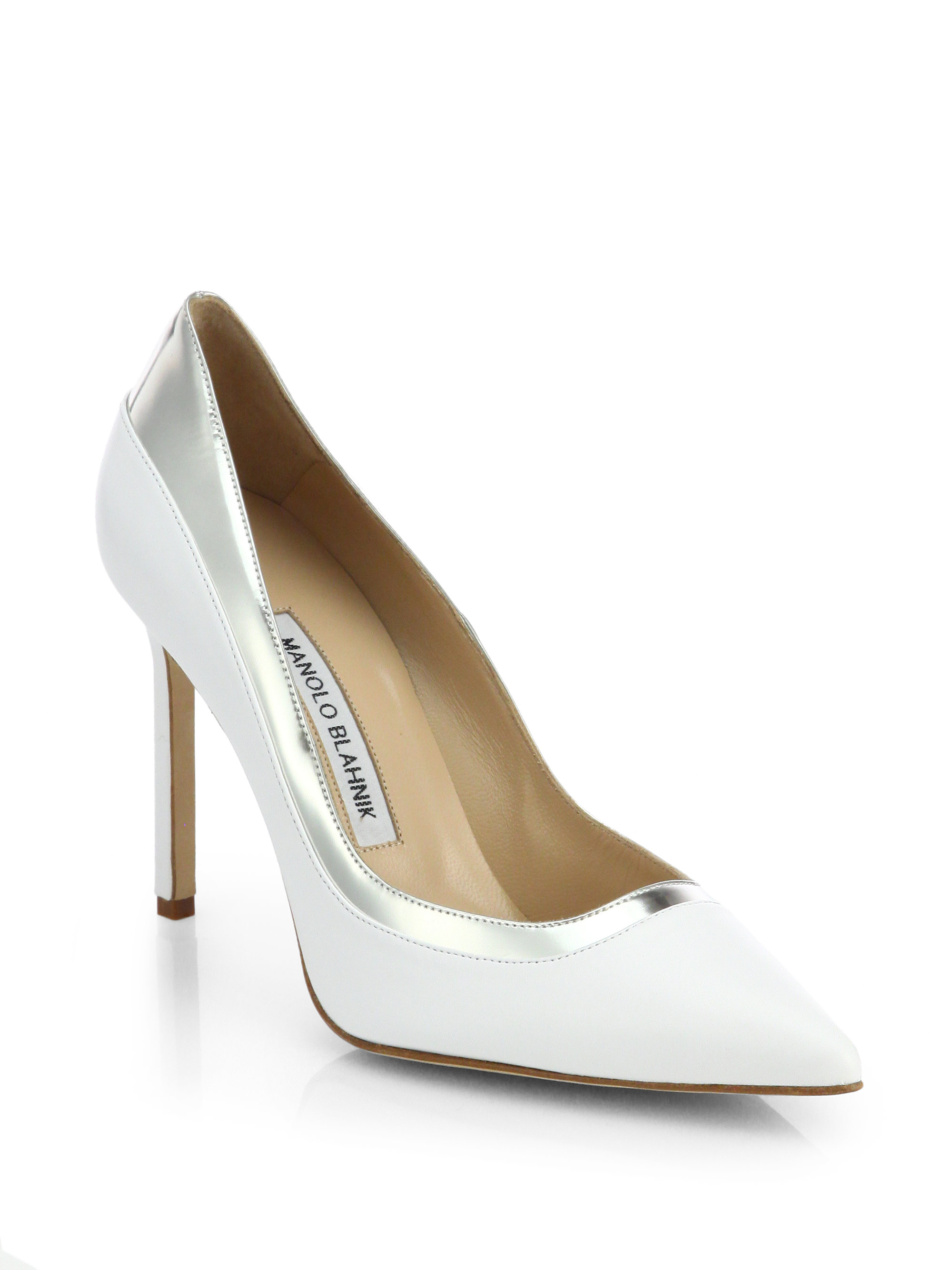 clearance factory outlet outlet footlocker Manolo Blahnik Bi-Color Pointed-Toe Pumps store looking for for sale 2lUbZwERoa
