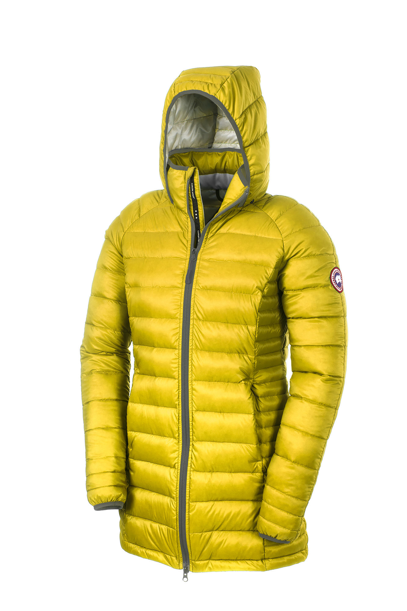 Canada Goose womens sale authentic - Canada goose Brookvale Hooded Coat in Yellow (Summer Light) | Lyst